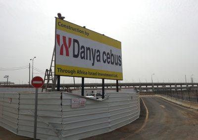 שלט פח לאתר בנייה דניה סיבוס